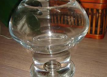 Wazon w kształcie kielicha - z grubego szkła