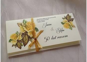 Zaproszenie na 50  lecie ślubu,złote gody