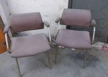 3 stare chromowane krzesła