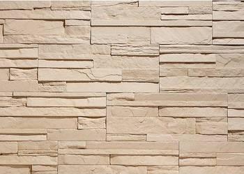 Płytki Dekoracyjne, Ozdobne, Panel 3D, Cegła z Fugą - Kamień