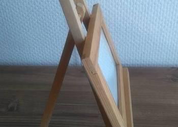 Drewniany stojak na zdjęcie Ramka na zdjęcie ze stojakiem