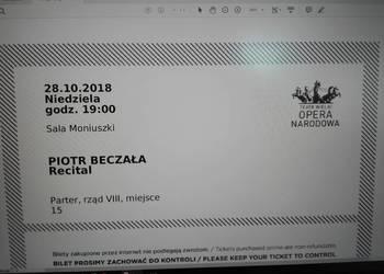 Piotr Beczała 28.10 sprzedam bilet do Opery