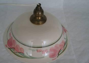 Lampa sufitowa kuchnia ceramika mosiadz RUSTYKALNA