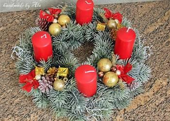 Wieniec adwentowy, Boże Narodzenie, stroik