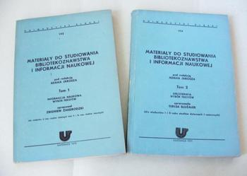 Materiały do studiowania bibliotek i informacji T 1+ 2Jarosz