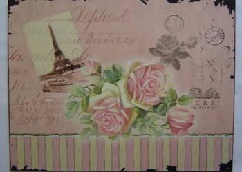 Plakat blaszany obrazek Paris Wysyłka gratis