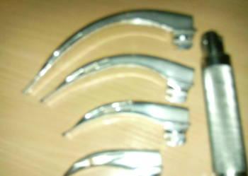 Laryngoskop 4 łyżkowy Mc Intosh lata 70