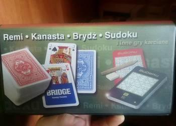 Dwie talie kart do gry + sudoku remi kanasta brydż NOWE