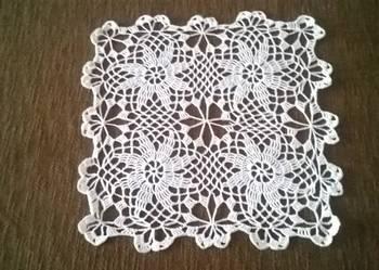 SERWETA  biała - 30 cm