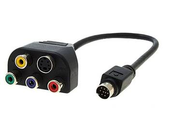 Kabel Video Card TV-Out 8-pin 4 RCA component