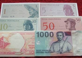 INDONEZJA Kolekcjonerskie Banknoty Zestaw - 6 sztuk UNC