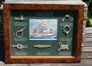 Węzły marynarskie żeglarskie obraz marynistyczny 45cm x 35cm