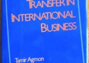 Technology transferin in international business - po angiels