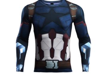 Koszulka Termoaktywna NA SIŁOWNIE Rashguard Capitan America
