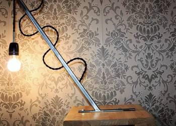 Lampa Metal i drewno Loft industrial styl