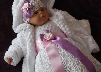 Komplet do chrztu dla dziewczynki -Doda - sukienki do chrztu
