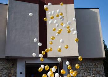 Pudło z balonami, pudło niespodzianka, balony z helem
