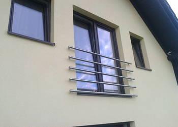 INOX barierka balkon balustrada z rur z atestem wyr hut