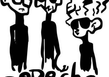 722-naklejka Depeche Mode