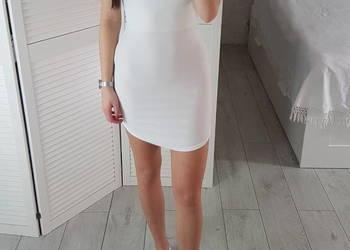 365b7f4b38 Missguided S M biała sukienka dopasowana na ramiączkach