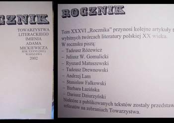 Rocznik Towarzystwa Literackiego 2002