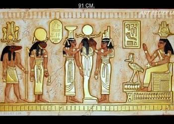 Płaskorzeźba Egipska Płaskorzeźby egipskie Egipt Sztukateria