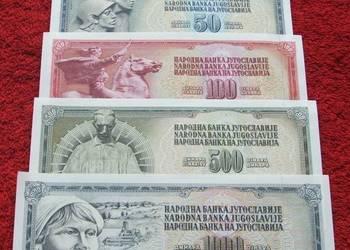 JUGOSŁAWIA Kolekcjonerskie Banknoty Zestaw - 5 sztuk UNC
