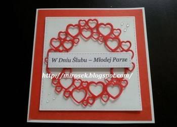 Kartka, kartki na Ślub hand made ręcznie robione