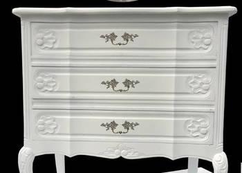 Ludwikowska komoda 80 cm śnieżna biel