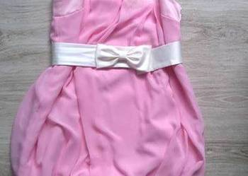 871695275e Sukienka bombka weselna piórka Różowa sukienka Sukienka Poraj -  Sprzedajemy.pl