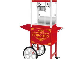 Maszyna do popcornu na kołach wózek czerwona FV