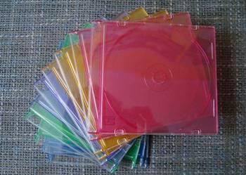 Plastikowe Etui na płyty CD 10 szt KOLOR