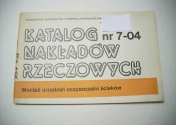 KNR nr 7-04 Montaż urządzeń oczyszczalni ścieków