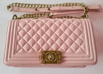 Torebka styl Chanel Boy Medium Różowa