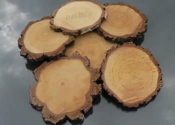 Plastry drewna brzozowego 6-8 cm z grubą korą!