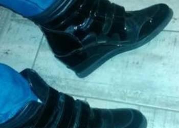 Czarne sznurowane sandały ze skóry licowej Primamoda