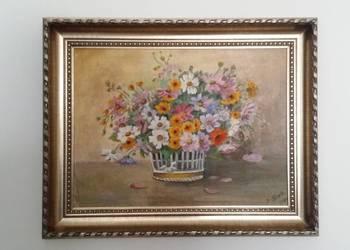 Obraz olejny kwiaty Irena Śliwa