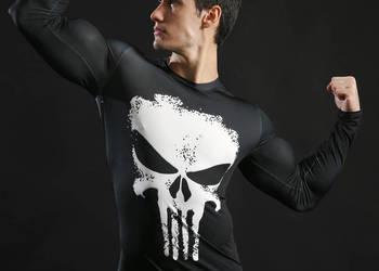 Koszulka Termoaktywna AVENGERS NA SIŁOWNIE Punisher roz. M