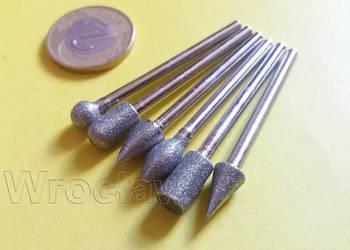 Zestaw szlifierski diamentowy 6 wzorów bitów do dremela