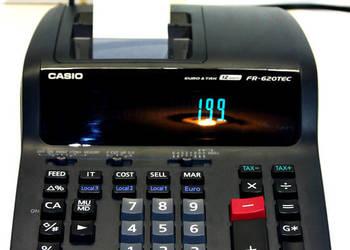 Kalkulator z drukarką CASIO FR-620TEC TAX VAT BAJERA!!!