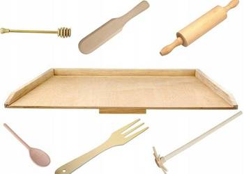 Zestaw kuchenny drewniany!stolnica wałek łyżka EKO