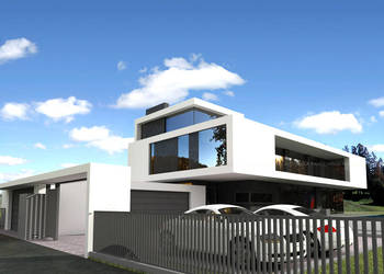 projekt NOWOCZESNEJ REZYDENCJI PS-CB-200-20-G4 plaski dach