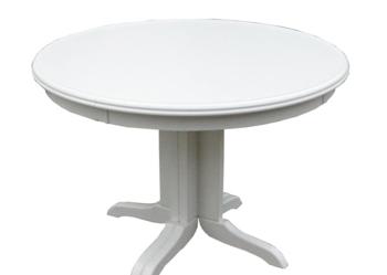 Stół okrągły rozkładany 90 biały nowy producent
