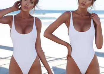 78c902420e924b Biały jednoczęściowy strój kąpielowy S M L XL Warszawa - Sprzedajemy.pl