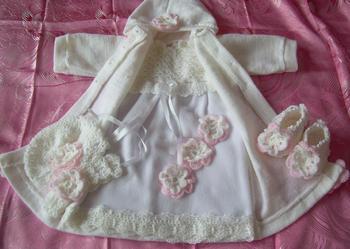 sukienki do chrztu dla dziewczynki - komplety do chrztu -51