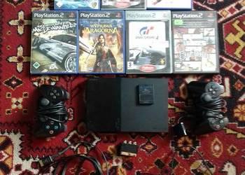 Konsola PlayStation2 + 2 pady + karta + 7 gier OKAZJA!!!