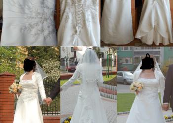 Suknia ślubna - Ecru - Rozmiar 40,42