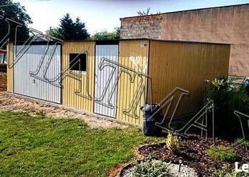 Garaż blaszany 7.5 m x 5.5 m Piasek/Biały, garaże garaz,hala