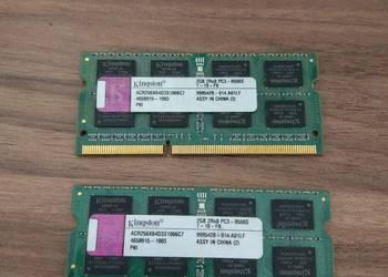 Pamięć Ram do latopa ddr3 2x2 gb Kingston ACR256X64d3S1066c7