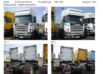 KONKURS OFERT ciągnik siodłowy SCANIA 7400 zł NETTO